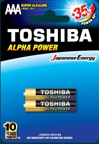 Toshiba LR3 BP2 Super Alkaline