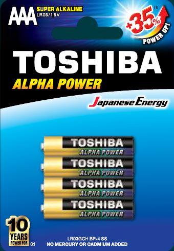 Toshiba LR3 BP4 Super Alkaline