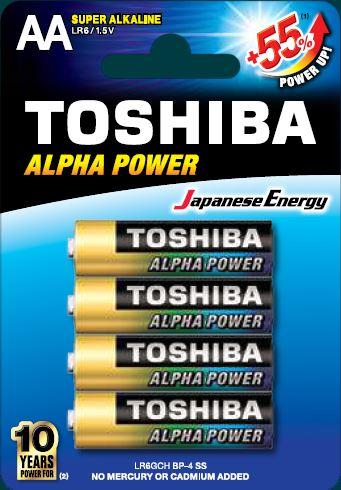 Toshiba LR6 BP4 Super Alkaline